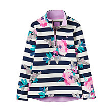 Buy Little Joule Girls' Fairdale Floral Sweatshirt, Blue/Multi Online at johnlewis.com