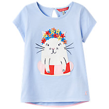 Buy Little Joule Girls' Maggie Cat T-Shirt, Blue Online at johnlewis.com