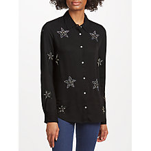 Buy Essentiel Antwerp Star Embellished Shirt, Black Online at johnlewis.com