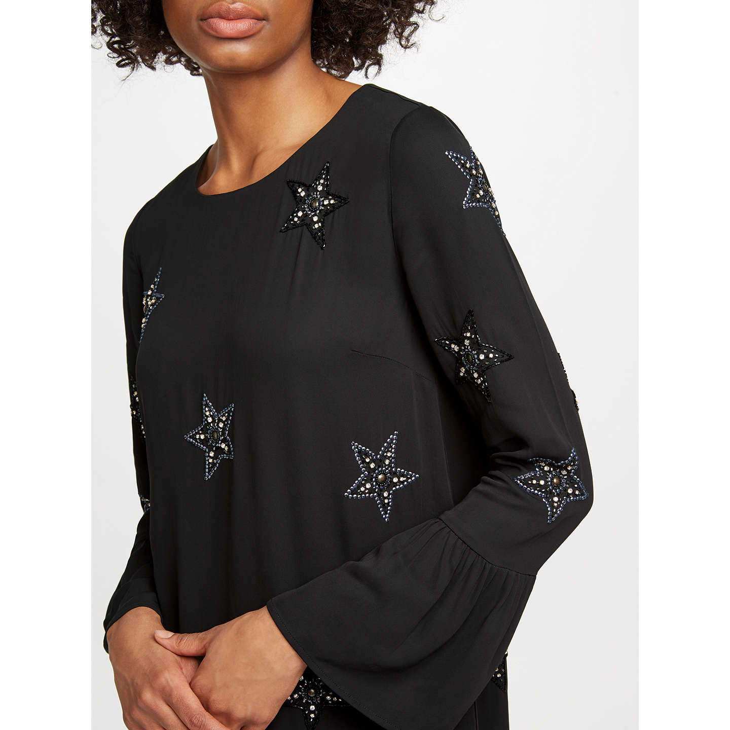 BuyEssentiel Antwerp Star Embellished Dress, Black, 6 Online at johnlewis.com