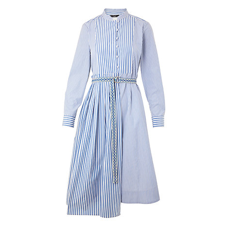 Buy Weekend MaxMara Aerovia Cotton Poplin Dress, Blue Online at johnlewis.com