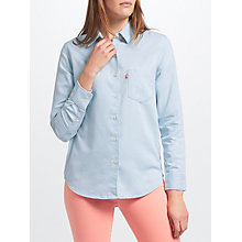 Buy Levi's Sidney Boyfriend Chambray Shirt, Light Blue Online at johnlewis.com