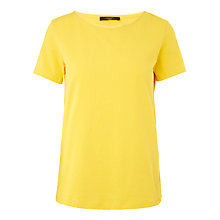 Buy Weekend MaxMara Short Sleeve Jersey Top, Yellow Online at johnlewis.com