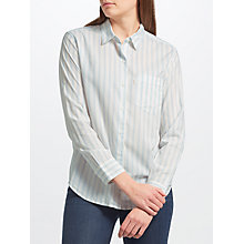 Buy Levi's Sidney Boyfriend Stripe Shirt, Lupin Cashmere Blue Online at johnlewis.com