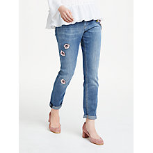 Buy Marc Cain Floral Embellished Jeans, Blue Online at johnlewis.com