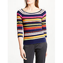 Buy Marc Cain Stripe Jersey Top, Multi Online at johnlewis.com