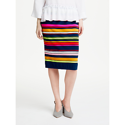 Marc Cain Stripe Pull On Skirt, Multi