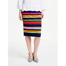Buy Marc Cain Stripe Pull On Skirt, Multi Online at johnlewis.com