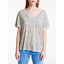 Buy Maison Scotch Wave Pattern T-Shirt, White Online at johnlewis.com