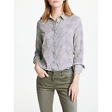 Buy Maison Scotch Wave Print Shirt, White Online at johnlewis.com