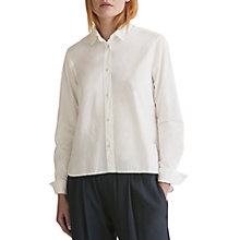 Buy Toast Cotton Poplin Shirt, Paper White Online at johnlewis.com