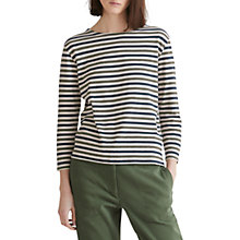 Buy Toast Breton Boat Neck T-Shirt, Olive/Navy Online at johnlewis.com