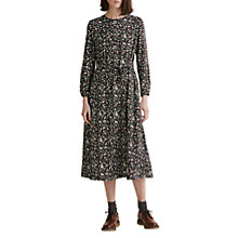 Buy Toast Iya Print Silk Tie Dress, Carbon Black Online at johnlewis.com