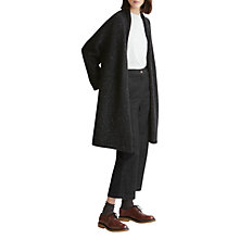 Buy Toast Donegal Knitted Wool Coat, Black Online at johnlewis.com