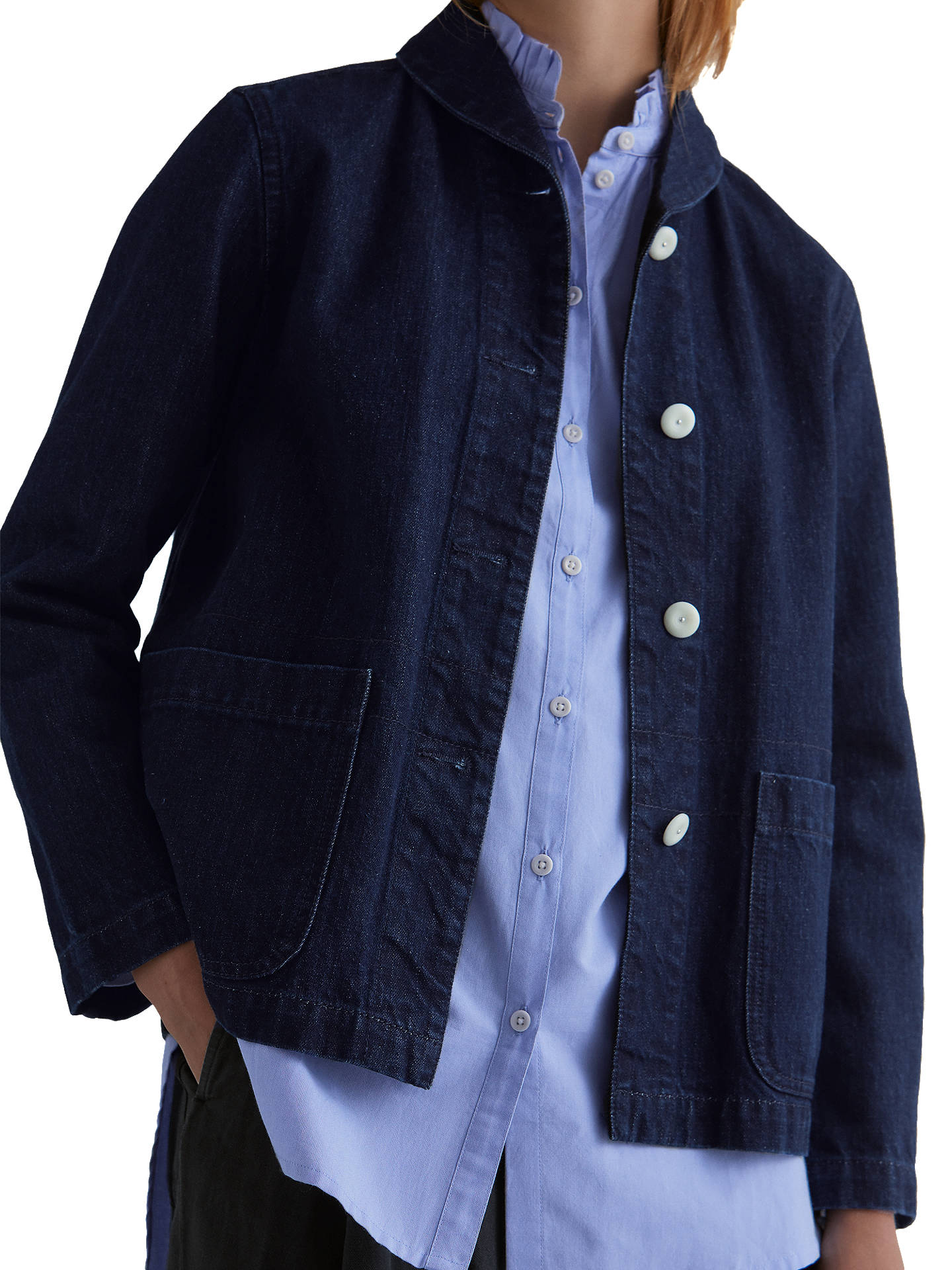 BuyToast Denim Workwear Jacket, Indigo, 8 Online at johnlewis.com