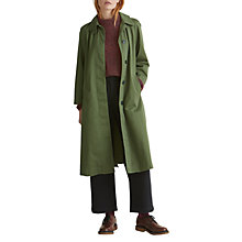Buy Toast Long Cotton Twill Trench Coat, Artichoke Online at johnlewis.com