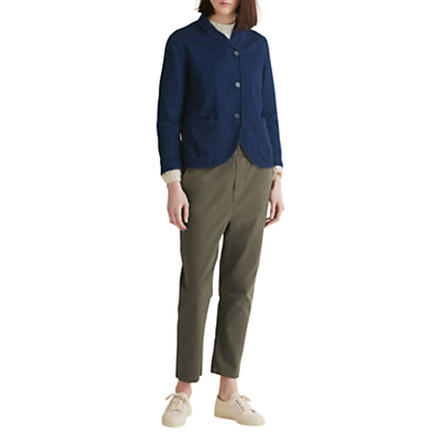 Toast Cotton Twill Jacket, Indigo