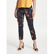 Buy Marc Cain Floral Print Trousers, Navy Online at johnlewis.com