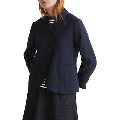 Product photo of Toast wool cotton alma jacket washed navy