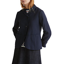 Buy Toast Wool Cotton Alma Jacket, Washed Navy Online at johnlewis.com