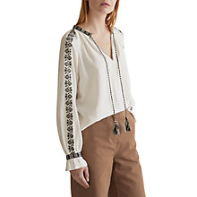 Buy Toast Embroidered Smock Top, Chalk Online at johnlewis.com