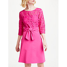 Buy Marc Cain Lace Top Dress, Pop Pink Online at johnlewis.com