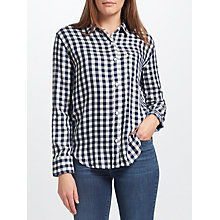 Buy Levi's Ryan Boyfriend Check Shirt, Etna Peacoat Online at johnlewis.com