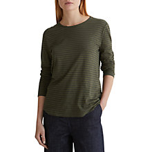 Buy Toast Striped Long Sleeved Top, Olive Online at johnlewis.com