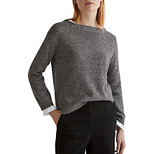 Buy Toast Mouline Wool Cotton Jumper, Charcoal Online at johnlewis.com