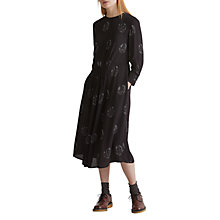 Buy Toast Luna Print Dress, Carbon Black Online at johnlewis.com