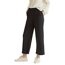 Buy Toast Wide Leg Denim Trousers, Black Online at johnlewis.com