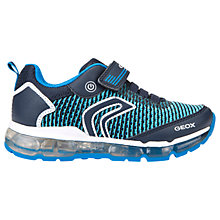 Buy Geox Children's J Android B Laced Trainers, Blue Online at johnlewis.com