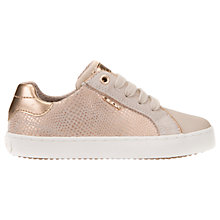 Buy Geox Children's J Kiwi G Laced Shoes, Rose Gold Online at johnlewis.com