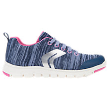 Buy Geox Children's J Sunday Laced Trainers, Pink Online at johnlewis.com