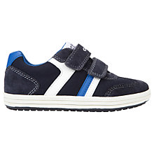 Buy Geox Children's Jr Vita Rip-Tape Trainers, Navy/White Online at johnlewis.com