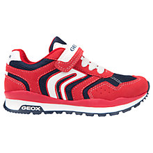Buy Geox Children's Pavel Riptape Trainers, Red/Navy Online at johnlewis.com