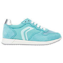 Buy Geox Children's J Jensea Laced Trainers, Turquoise Online at johnlewis.com