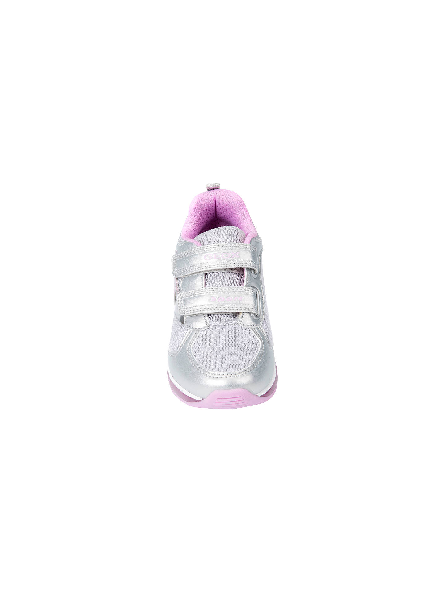 Geox Children's J Android Riptape Trainers, Silver at John