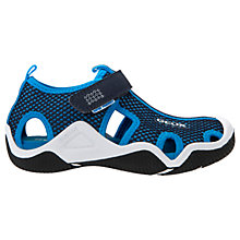 Buy Geox Children's Junior Wader Sandals, Navy/Sky Blue Online at johnlewis.com