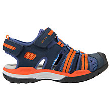 Buy Geox Children's J Borealis Sandals, Navy/Orange Online at johnlewis.com
