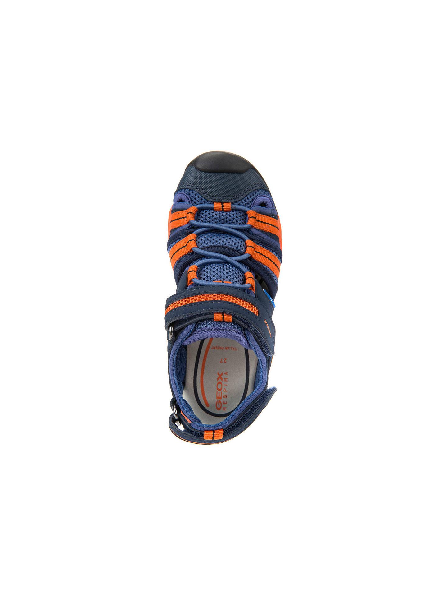 7f3d73fe1a925 Buy Geox Children's J Borealis Sandals, Navy/Orange, 26 Online at johnlewis.