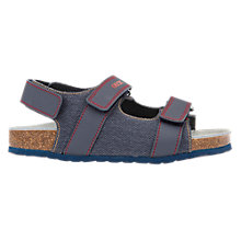 Buy Geox Children's Storm Double Riptape Sandals, Navy Online at johnlewis.com