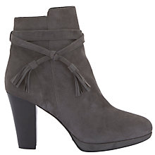 Buy Mint Velvet Taylor Block Heeled Ankle Boots, Grey Suede Online at johnlewis.com