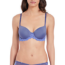 Buy Wacoal Embrace Lace T-Shirt Bra, Twilight Purple/Hydrangea Online at johnlewis.com