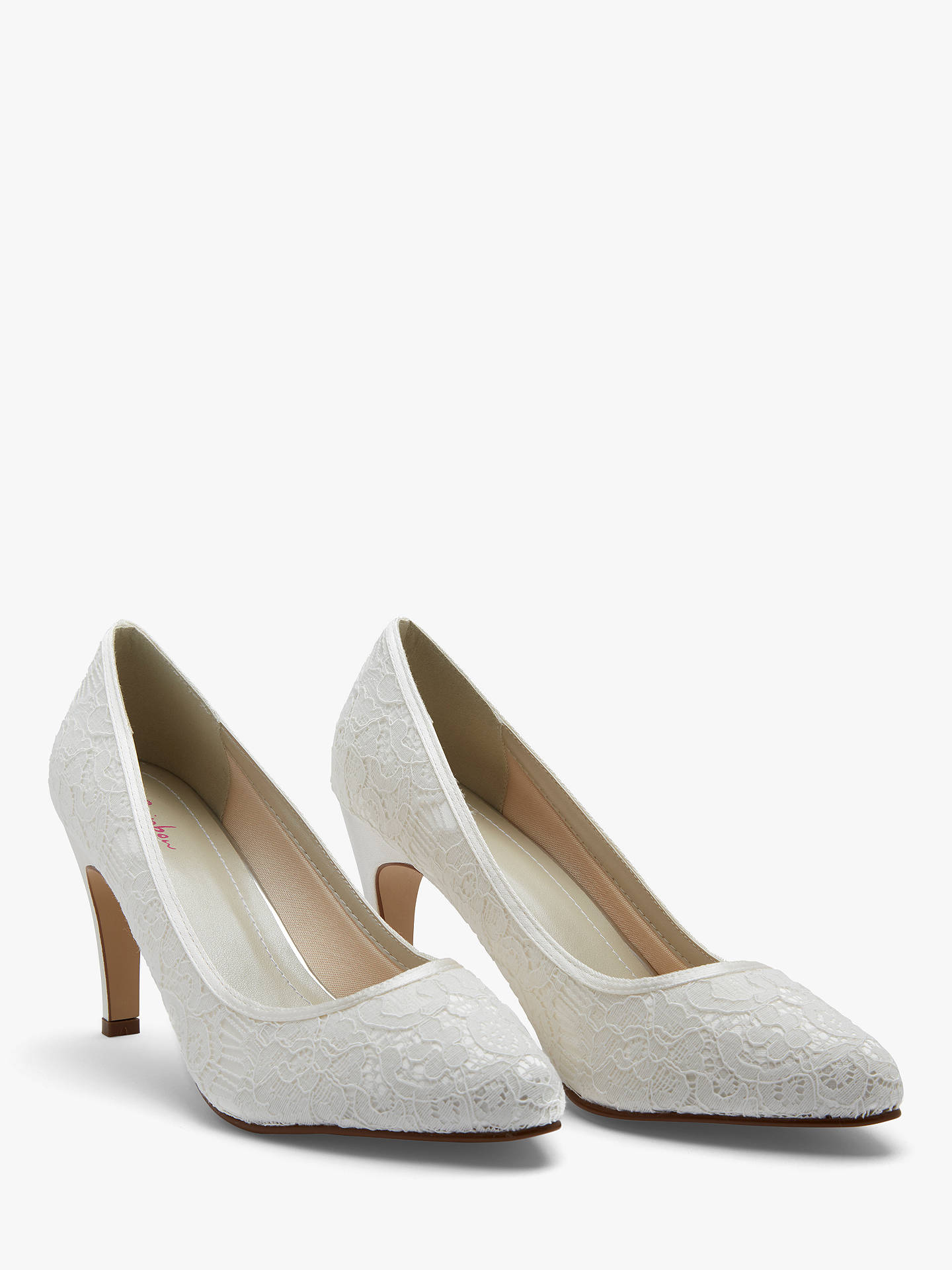 BuyRainbow Club Alexis Pointed Toe Court Shoes, Ivory, 3 Online at johnlewis.com