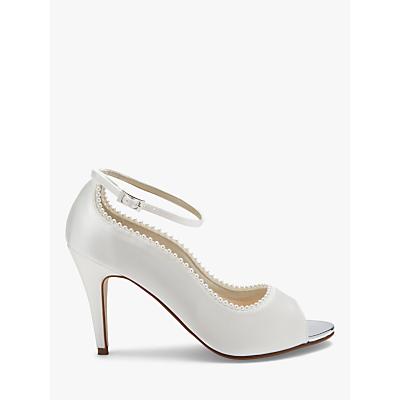 Rainbow Club Bella Peep Toe Court Shoes, Ivory