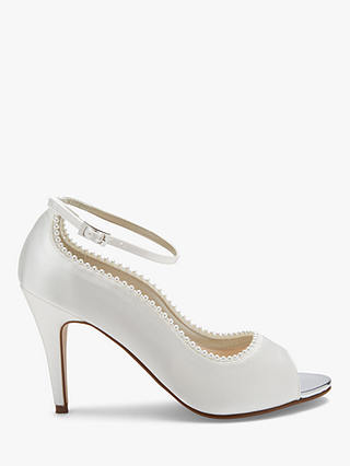 Buy Rainbow Club Bella Peep Toe Court Shoes, Ivory, 3 Online at johnlewis.com