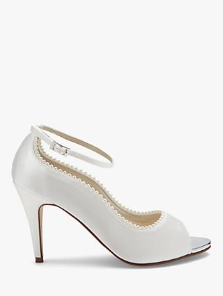 Rainbow Club Bella Peep Toe Court Shoes, Ivory