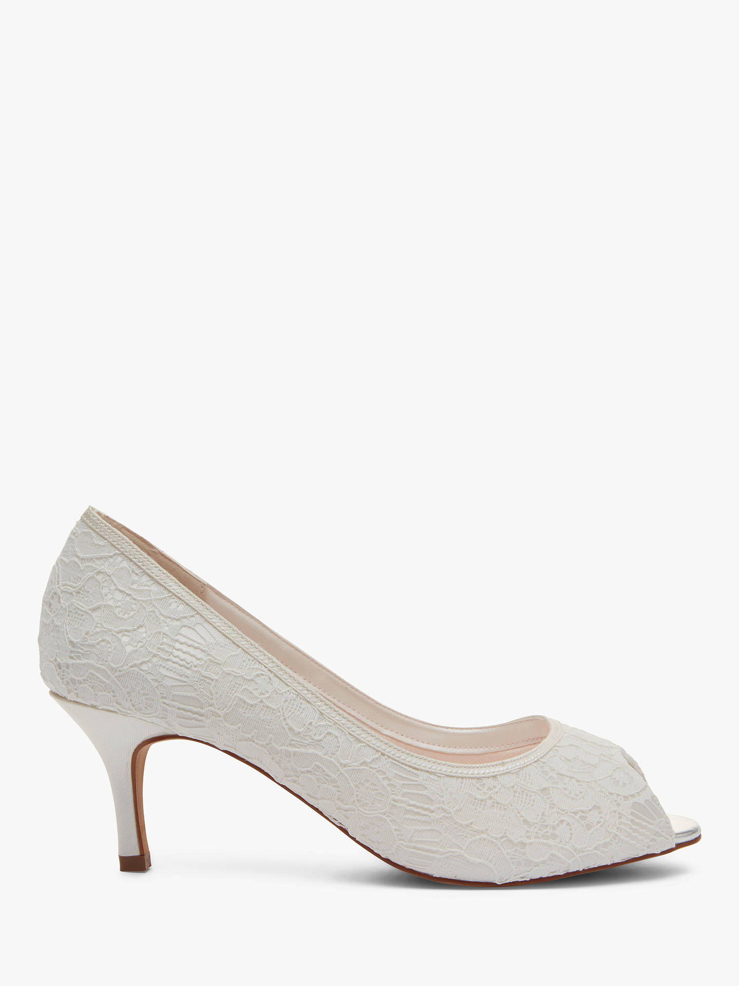 2777594b58262 Buy Rainbow Club Ava Peep Toe Court Shoes, Ivory, 3 Online at johnlewis.