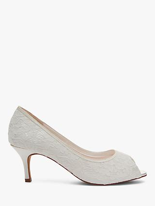 Rainbow Club Ava Peep Toe Court Shoes, Ivory